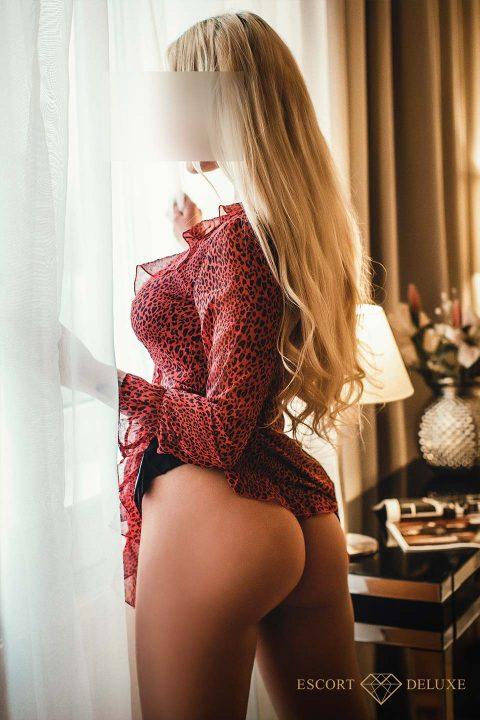 Model am Fenster